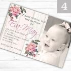 Personalised Girl Photo Christening Invitations