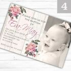 Personalised Girl Photo Christening Baptism Invitations Invites