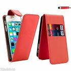 FLIP LEATHER CASE COVER FOR APPLE IPHONE 4 4S 5 SE 6 7 8  FREE SCREEN PROTECTOR  <br/> Option for iPhone 5/5S, 6/6S, 6/6S Plus, 7, 7 Plus, SE