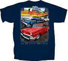 55 57 61 Chevy Chevrolet Good Times Roll Drive In 100% Cotton Navy Blue T-Shirt