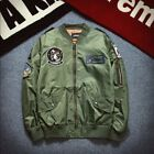 Fashion Men Air Jacket MA1 Army Flight Bomber Jacket Coat Embroidered Outwear