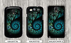 FRACTAL BLUE SPIRAL DESIGN CASE FOR SAMSUNG GALAXY S3 S4 NOTE 3 -kjk9Z