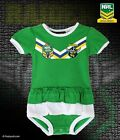 CANBERRA RAIDERS NRL TEAM GIRLS FOOTYSUIT TUTU FRILL SKIRT BABY INFANT ONESIE