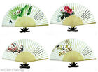 New Chinese Japanese Folding Silk Hand Flower Bamboo Asian Pocket Fan Decor
