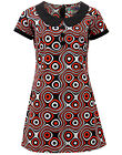 NEW RETRO MOD SIXTIES DOLLIEROCKER OP ART 60s MINI DRESS Madcap England MC202 C5