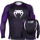 Venum No Gi Rash Guard - Long Sleeve - Black & Purple- IBJJF Jiu Jitsu Grappling