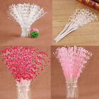 100 Pearl Sprays Wedding Stem Beads Favor Craft Flower Bouquet Decor