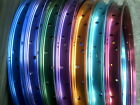 "COLOURED ANODISED ALLOY 36 HOLE 20"" BMX RIMS"