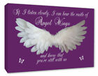 Angel Wings Picture Wall Hanging IF I Listen Closely Quote Canvas Prints #047
