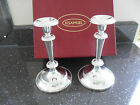 PAIR OF H SAMUEL CANDLESTICKS SILVER PLATED IN BOX