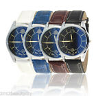 1PCs Fashion Leather Blue Light Glass Watch Men Business Wrist Watch