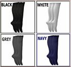 3 pairs LADIES GIRLS KNEE HIGH SOCKS SCHOOL BLACK,WHITE,GREY,NAVY size 4-6