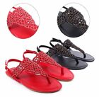 2 Color Summer T-Strap Buckle Strap Ladies Casual Womens Sandals Size 5.5-10