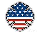 Firefighter American Flag Decal Fire USA United States MATTE Vinyl Sticker HGV