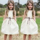 Toddler Kids Baby Girls Dress Sleeveless Princess Party Pageant Summer TXST