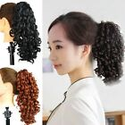 Medium Long Wavy Curly Claw Clip Ponytail Daily Hairpiece Extension Nature Color