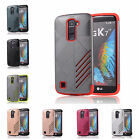 For LG K7 X210 LG Tribute 5 Hard Case Bicolour Tough Armour Rubber Plastic Cover