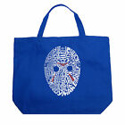 Large Tote Bag - Slasher Movie Villians Created using a list of the most popular
