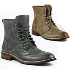 Delli Aldo Men's Faux Suede Lace up Dress Ankle Boot  w/ Leather Lining M-828A