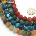 """Natural Stone Matte Round Onyx Agate Beads For Jewelry Making 15"""" 4-10mm"""