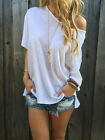 Women Lady Summer White Short Sleeve Blouse Casual Tops T-Shirt