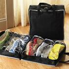 Travel Shoes Storage Bag Tote Luggage Carry Pouch Holder Organizer Black/Red W