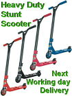 Street Ranger Push Kick Stunt Scooter Red Black Pink Blue Aluminium Heavy Duty