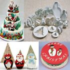 Christmas Theme Fondant Pastry Topper Cake Decorating Plunger Cutters Gum Tools