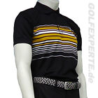 WILSON GOLF HERREN POLOSHIRT PERFORMANCE STRIPE POLO BLACK ORANGE