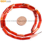 Natural Stone Sardonyx Agate Gemstone Tube Beads For Jewelry Making 15""
