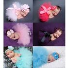 Newborn Kids Baby Photo Photography Prop Costume Blanket Backdrop Tutu Skirt Set