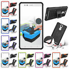 For Lenovo K5 Note Heavy Duty Kickstand Plastic Rubber Rugged Armor Case Cover