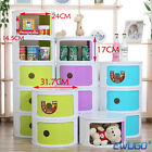 2 3 4Tier Bedroom Office Storage Cabinet Round ABS Plastic Towel Tidy Unit