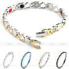 Love Heart 4 in 1 Steel Magnetic Energy Germanium Therapy Power Health Bracelet