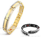 Men's Steel Magnetic Rectangle 4 in 1 Therapy Energy Health Bracelet Bangle Gift