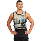 CROSS101 Adjustable Camouflage Weighted Weight Vest Training Fitness - NEW