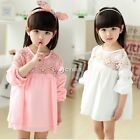 Girl Dresses Summer Pleated Chiffon One-Piece Dress Kids Casual Party Sundress
