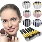 5 Pcs Professional Makeup Powder Foundation Eyeshadow Blusher Cosmetic Brushes