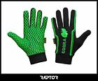 Kids/Mini/Junior Fleece Lined Full Fingered Rugby Silicon Grip Gloves/Mitts/Mits