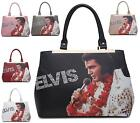 LADIES HANDBAG TWIN HANDLE FASHION SYNTHETIC ELVIS PRESLEY SHOULDER BAG
