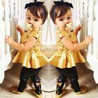 Fashion Kids Baby Girls Shirt Dress + Legging Pants Set Clothes Outfits 2-13 Y