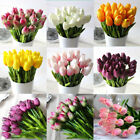 12/24 Tulip Artificial Flower Latex Real Touch Wedding Party Bouquet Home Decor