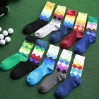 1 Pair Men Fashion 2016 Trendy Cotton British style Plaid Gradient Color Socks