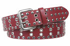 Two Row Grommets and circle studded Fashion Belt