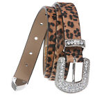 3/4 Inch Animal Print Genuine Haircalf Leather Belt