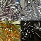 HIGH GLOSS METALLIC FOIL LAMINATED POLY 290T BACK OUTDOOR DANCE CRAFT FABRIC 58""