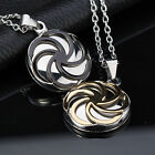 AgentX Stainless Steel Stylish Circle Round Tag Pendant Necklace Chain +Gift Bag