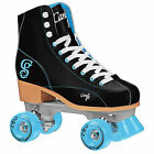New Candi Girl Sabina Black Teal Roller Skates Girls Ladies Size 3-10