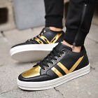 2016New Men's Casual Leather Flats Shoes Running Sports Korean Breathable shoes@