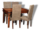 JALI 120CM DINING TABLE & 4 RATTAN CHAIRS (J40&4BDW)